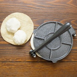 "AW1188-8"" Tortilla Press Maker - Roti Flatbread Maker - 100% Cast Iron"