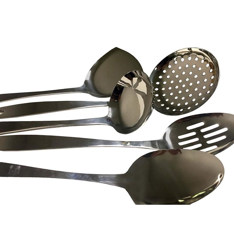 ecdb0cdb0 5 Piece Stainless Steel Cooking Utensil Set