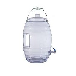 AW5511-Vitrolero Plastic Water/Drink Container-5 Gallon with Handle and Faucet