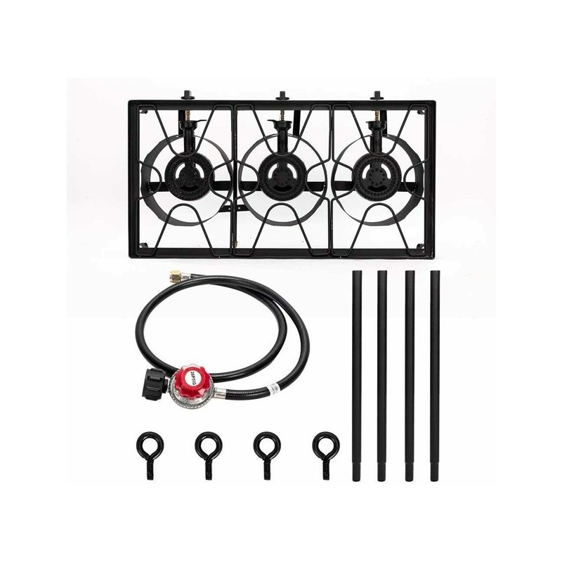 AW6900-Triple 3 Burner Propane Gas Cooker-Outdoor BBQ ...