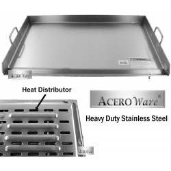"AW3220-32"" x 20"" Reinforced Stainless Steel Griddle - Flat Top Grill - Plancha"
