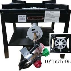 """AW4962-Big Flame 10"""" Burner - Heavy Duty Cast Iron Portable Camp Stove"""